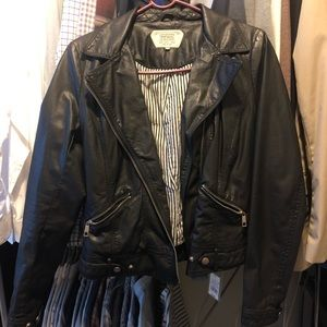 Zara Trafaluc Leather Jacket - Black Medium